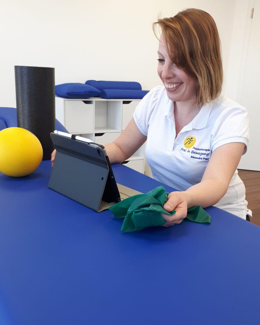 Videobehandlung Physiotherapie